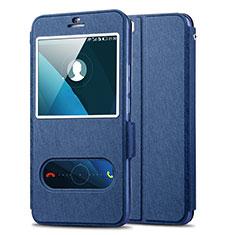 Funda de Cuero Cartera con Soporte para Huawei Honor 6 Plus Azul