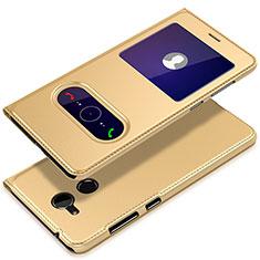 Funda de Cuero Cartera con Soporte para Huawei Honor 6A Oro