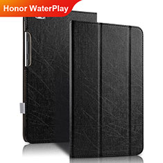 Funda de Cuero Cartera con Soporte para Huawei Honor WaterPlay 10.1 HDN-W09 Negro