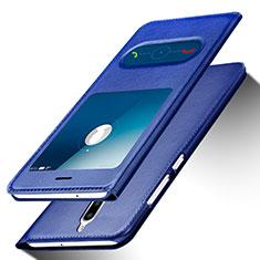 Funda de Cuero Cartera con Soporte para Huawei Mate 10 Lite Azul