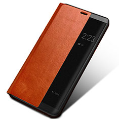 Funda de Cuero Cartera con Soporte para Huawei Mate 10 Marron