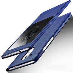 Funda de Cuero Cartera con Soporte para Huawei Mate 8 Azul