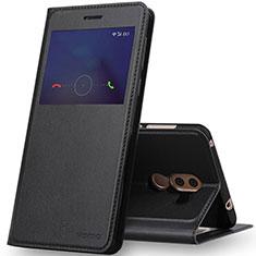Funda de Cuero Cartera con Soporte para Huawei Mate 9 Lite Negro