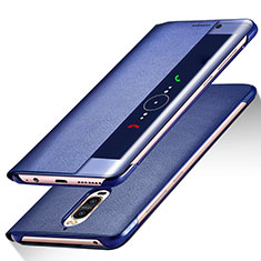 Funda de Cuero Cartera con Soporte para Huawei Mate 9 Pro Azul