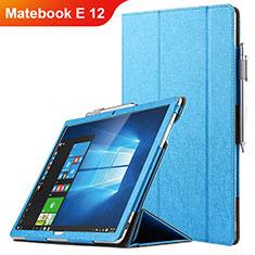 Funda de Cuero Cartera con Soporte para Huawei Matebook E 12 Azul