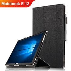 Funda de Cuero Cartera con Soporte para Huawei Matebook E 12 Negro