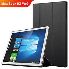 Funda de Cuero Cartera con Soporte para Huawei MateBook HZ-W09 Negro