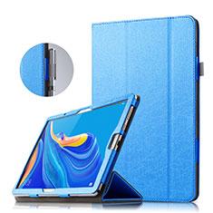 Funda de Cuero Cartera con Soporte para Huawei MatePad 10.8 Azul