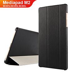 Funda de Cuero Cartera con Soporte para Huawei Mediapad M2 8 M2-801w M2-803L M2-802L Negro