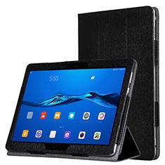 Funda de Cuero Cartera con Soporte para Huawei MediaPad M3 Lite Negro