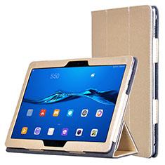 Funda de Cuero Cartera con Soporte para Huawei MediaPad M3 Lite Oro