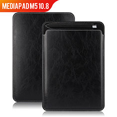 Funda de Cuero Cartera con Soporte para Huawei MediaPad M5 10.8 Negro
