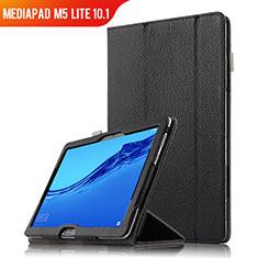 Funda de Cuero Cartera con Soporte para Huawei MediaPad M5 Lite 10.1 Negro