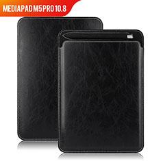 Funda de Cuero Cartera con Soporte para Huawei MediaPad M5 Pro 10.8 Negro