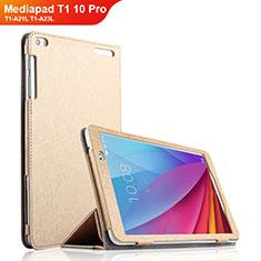 Funda de Cuero Cartera con Soporte para Huawei Mediapad T1 10 Pro T1-A21L T1-A23L Oro