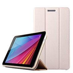 Funda de Cuero Cartera con Soporte para Huawei Mediapad T1 7.0 T1-701 T1-701U Oro