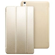 Funda de Cuero Cartera con Soporte para Huawei MediaPad T2 8.0 Pro Oro