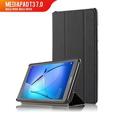 Funda de Cuero Cartera con Soporte para Huawei MediaPad T3 7.0 BG2-W09 BG2-WXX Negro