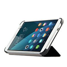 Funda de Cuero Cartera con Soporte para Huawei MediaPad X2 Negro
