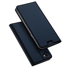 Funda de Cuero Cartera con Soporte para LG Q6 Azul