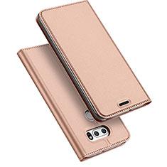 Funda de Cuero Cartera con Soporte para LG V30 Oro Rosa