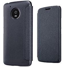 Funda de Cuero Cartera con Soporte para Motorola Moto G5 Negro