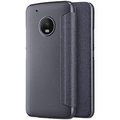 Funda de Cuero Cartera con Soporte para Motorola Moto G5 Plus Negro