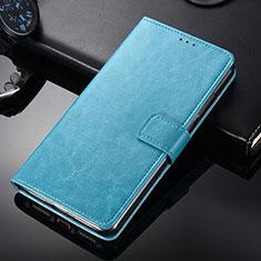 Funda de Cuero Cartera con Soporte para Nokia 9 PureView Azul Cielo