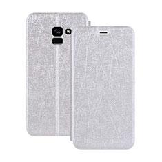 Funda de Cuero Cartera con Soporte para Samsung Galaxy A5 (2018) A530F Blanco