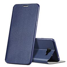 Funda de Cuero Cartera con Soporte para Samsung Galaxy C7 SM-C7000 Azul