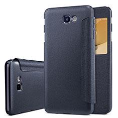 Funda de Cuero Cartera con Soporte para Samsung Galaxy J5 Prime G570F Negro