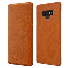 Funda de Cuero Cartera con Soporte para Samsung Galaxy Note 9 Marron
