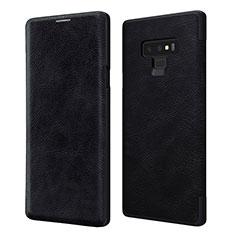 Funda de Cuero Cartera con Soporte para Samsung Galaxy Note 9 Negro