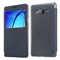 Funda de Cuero Cartera con Soporte para Samsung Galaxy On5 Pro Negro