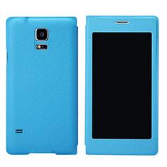 Funda de Cuero Cartera con Soporte para Samsung Galaxy S5 Duos Plus Azul Cielo