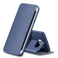Funda de Cuero Cartera con Soporte para Samsung Galaxy S6 Edge SM-G925 Azul