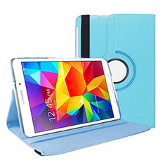 Funda de Cuero Cartera con Soporte para Samsung Galaxy Tab 4 7.0 SM-T230 T231 T235 Azul Cielo