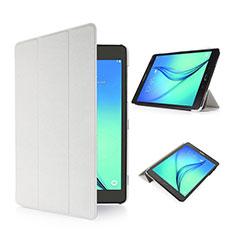 Funda de Cuero Cartera con Soporte para Samsung Galaxy Tab S2 8.0 SM-T710 SM-T715 Blanco