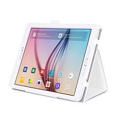 Funda de Cuero Cartera con Soporte para Samsung Galaxy Tab S2 9.7 SM-T810 SM-T815 Blanco