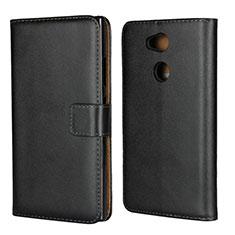 Funda de Cuero Cartera con Soporte para Sony Xperia L2 Negro