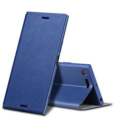 Funda de Cuero Cartera con Soporte para Sony Xperia XZ Premium Azul