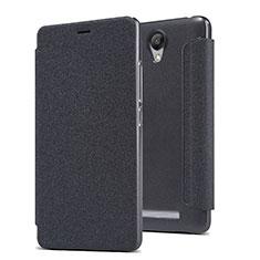 Funda de Cuero Cartera con Soporte para Xiaomi Redmi Note 2 Negro