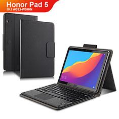 Funda de Cuero Cartera con Teclado para Huawei Honor Pad 5 10.1 AGS2-W09HN AGS2-AL00HN Negro