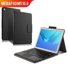 Funda de Cuero Cartera con Teclado para Huawei MediaPad M5 10.8 Negro