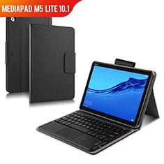Funda de Cuero Cartera con Teclado para Huawei MediaPad M5 Lite 10.1 Negro
