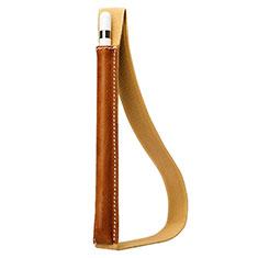 Funda de Cuero Elastico del Pluma Desmontable P01 para Apple Pencil Apple iPad Pro 12.9 Marron