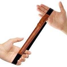 Funda de Cuero Elastico del Pluma Desmontable P03 para Apple Pencil Apple iPad Pro 12.9 Marron