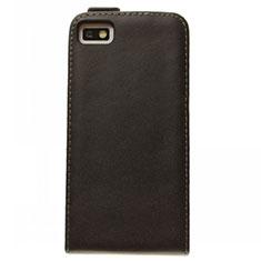 Funda de Cuero Flip para Blackberry Z10 Negro