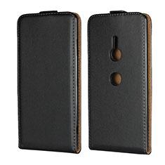 Funda de Cuero Flip para Sony Xperia XZ3 Negro