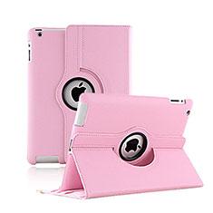 Funda de Cuero Giratoria con Soporte para Apple iPad 2 Rosa
